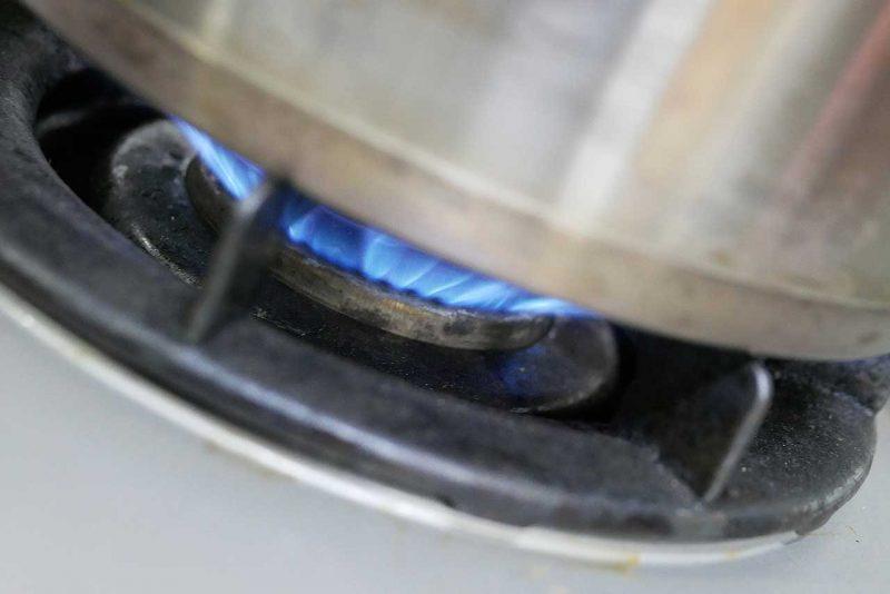 火にかける
