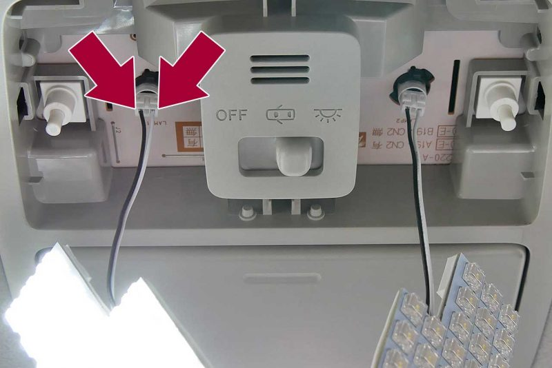 電極を確認したら取り付ける