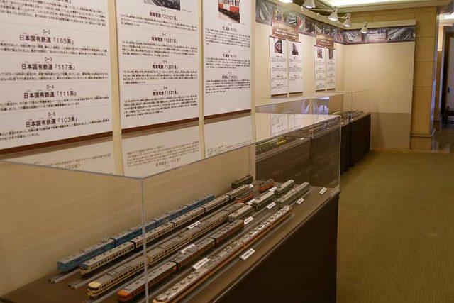 電車の展示