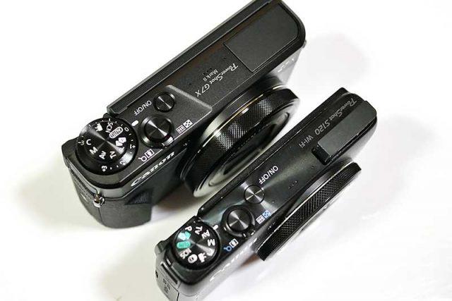 PowerShot  S120とPowerShot G7 X Mark IIの比較
