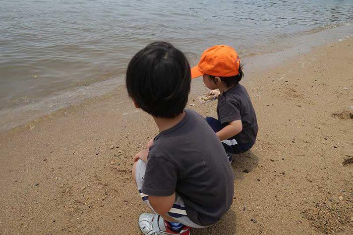 砂遊び開始!!
