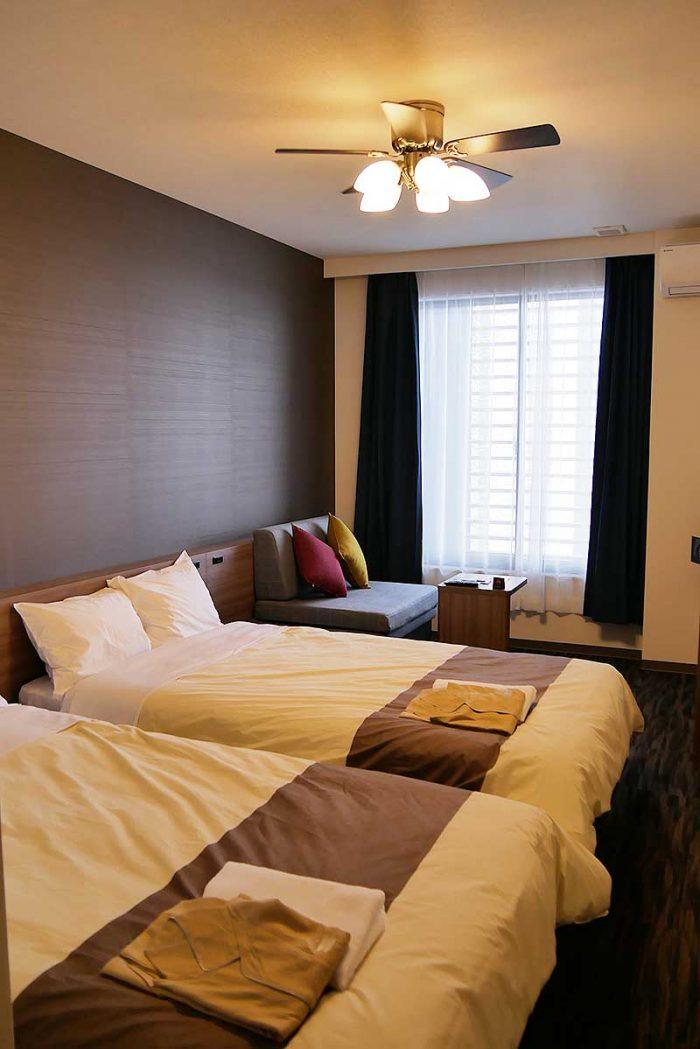 変なホテルの客室写真