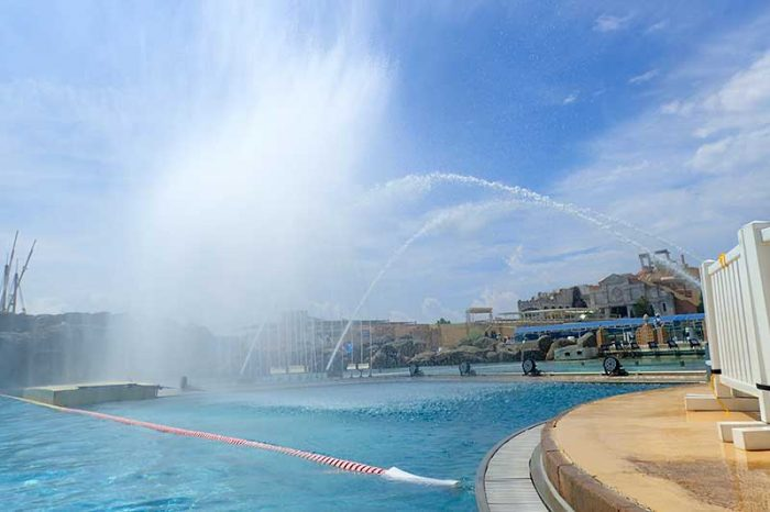 定期的に行われる噴水ショー