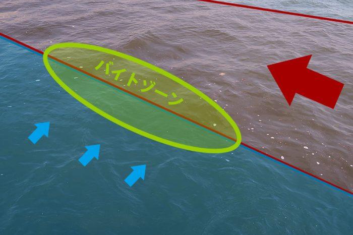シーバス捕食スポットのイメージ図