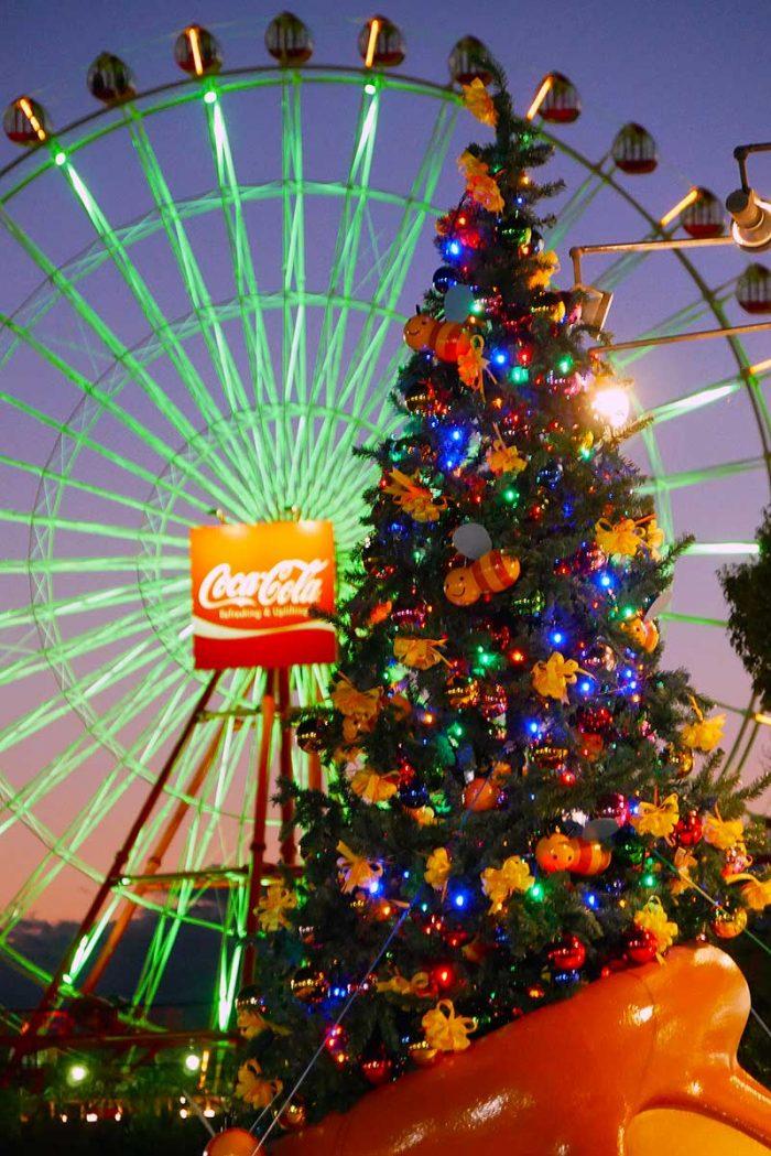クリスマスツリーと観覧車