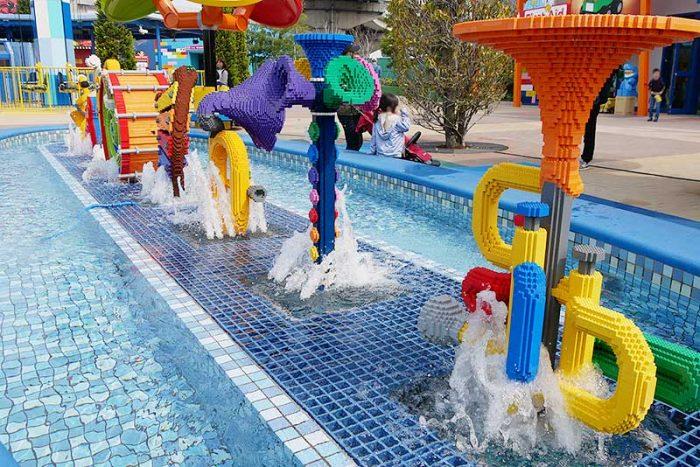 レゴの噴水も綺麗!!