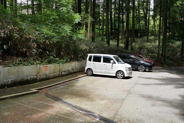 六甲山フィールドアスレチックの駐車場