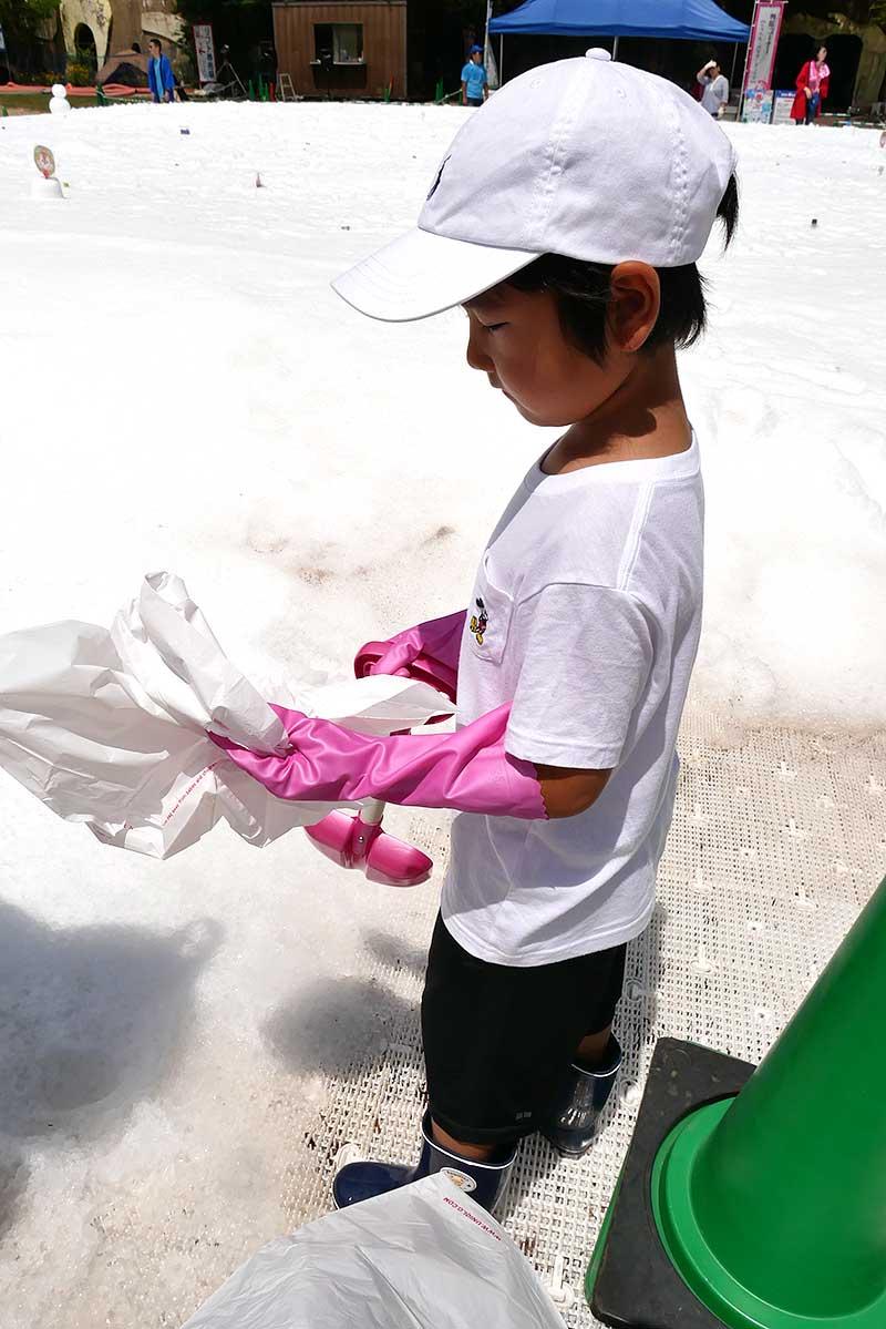 今年は手袋&ゴム手袋を装備