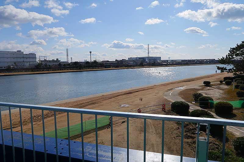 武庫川の河川敷は工事中
