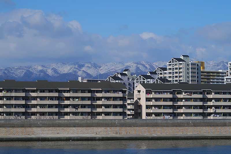六甲山も雪化粧