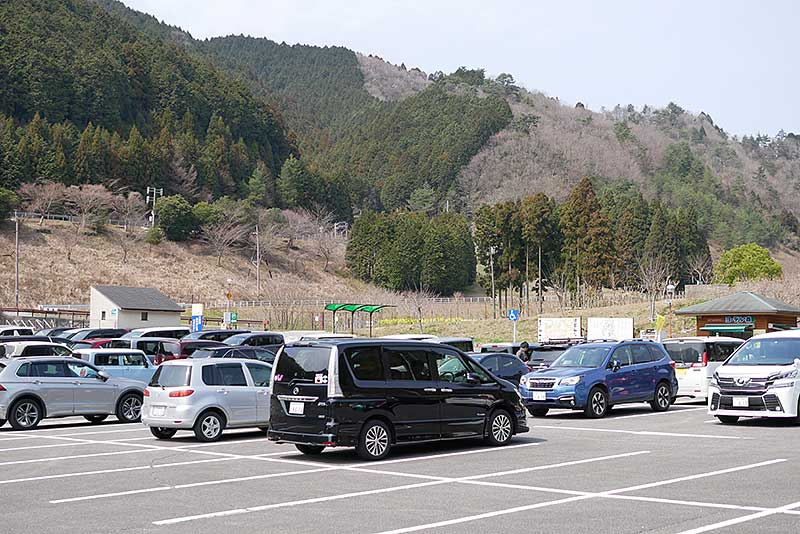 ヨーデルの森の駐車場