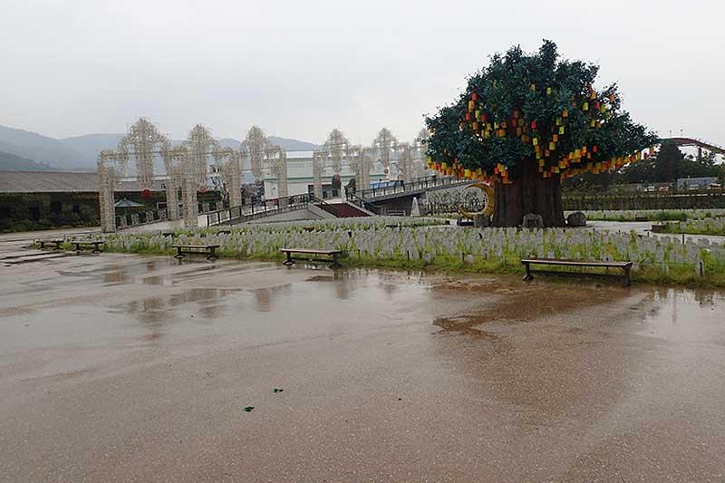 雨の降る中ラグナシアへ