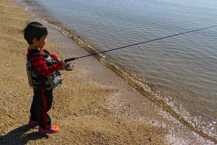 次男君と釣りに行く休日
