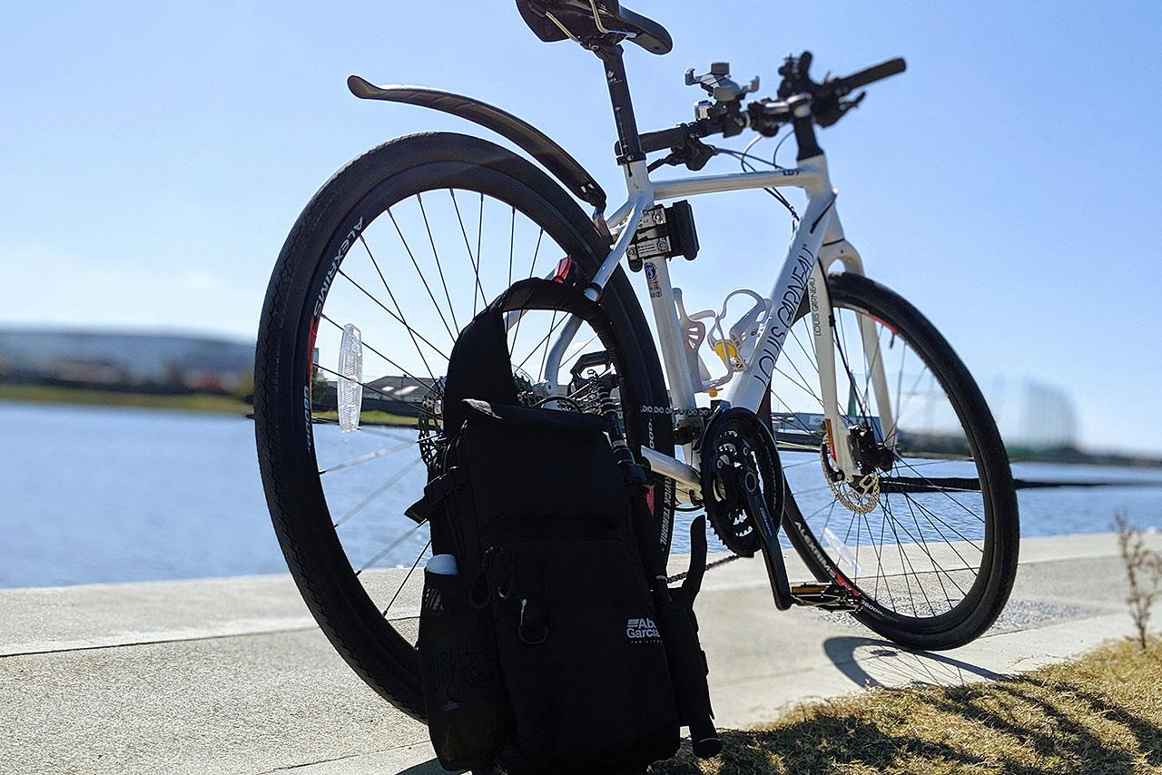 自転車釣行とバッグと秋の空!!