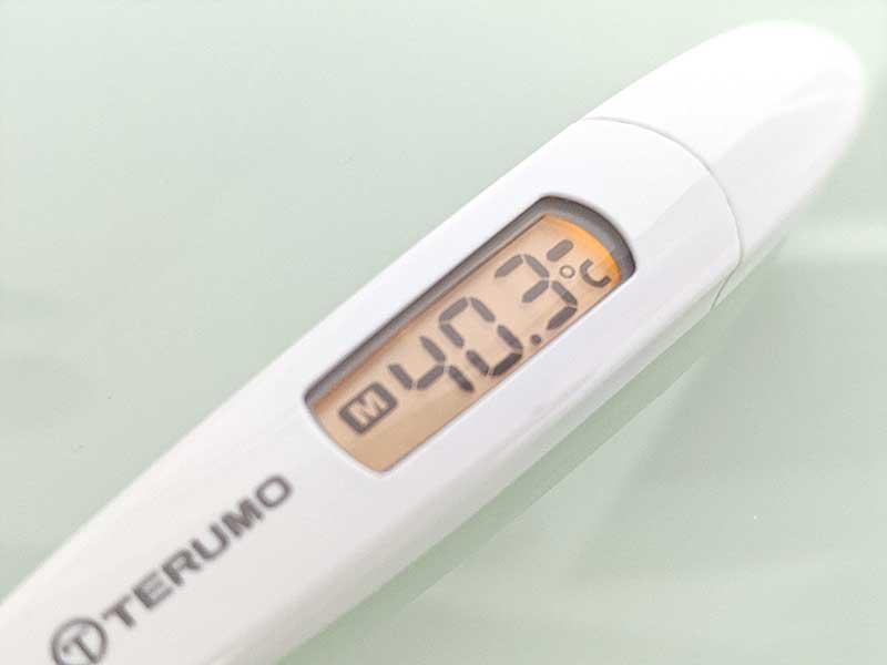 40度超えの発熱