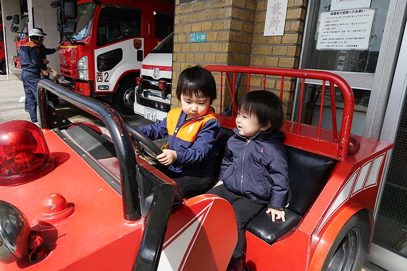 【西宮】小さな消防車で遊べる『西宮消防署』を紹介!!