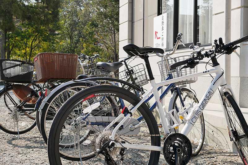 廣田神社の駐輪場(自転車置き場)