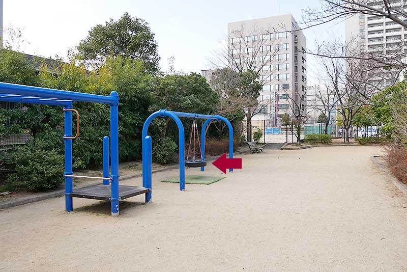 大塚あすなろ公園の遊具(タイヤ)