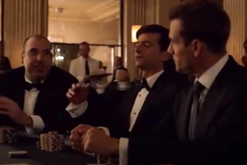 ポーカーで争う二人