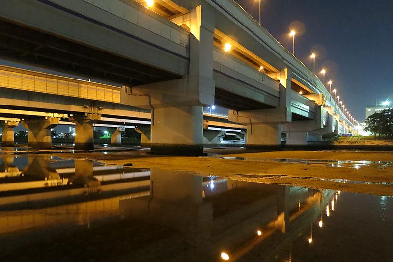 干潮時の河川