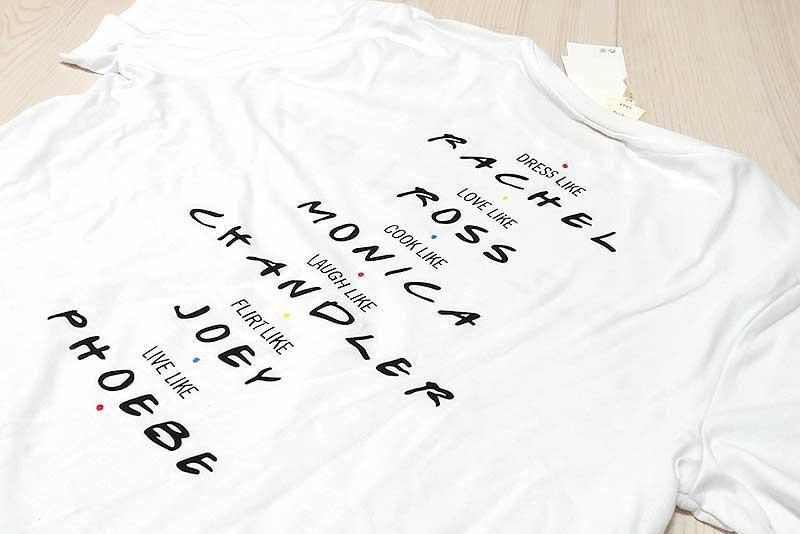 H&M フレンズTシャツ・背中側