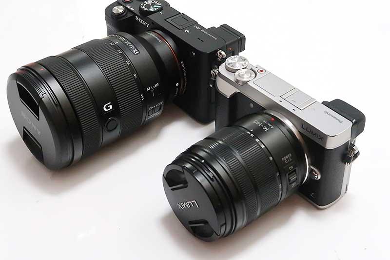 α7CとLUMIX GX7 MarkⅡのレンズ比較