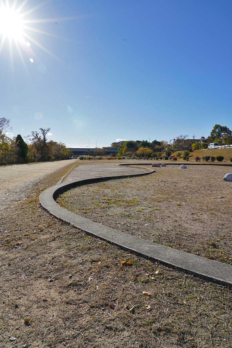 武庫川河川敷の公園(砂場)