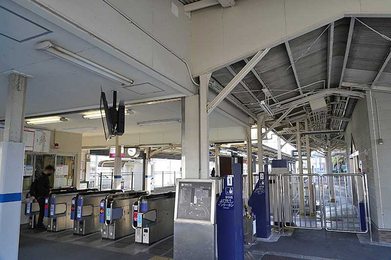 阪急甲陽園駅の改札風景