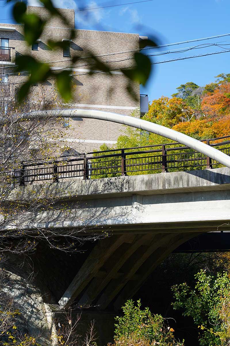 ハイキングコースから見た銀水橋
