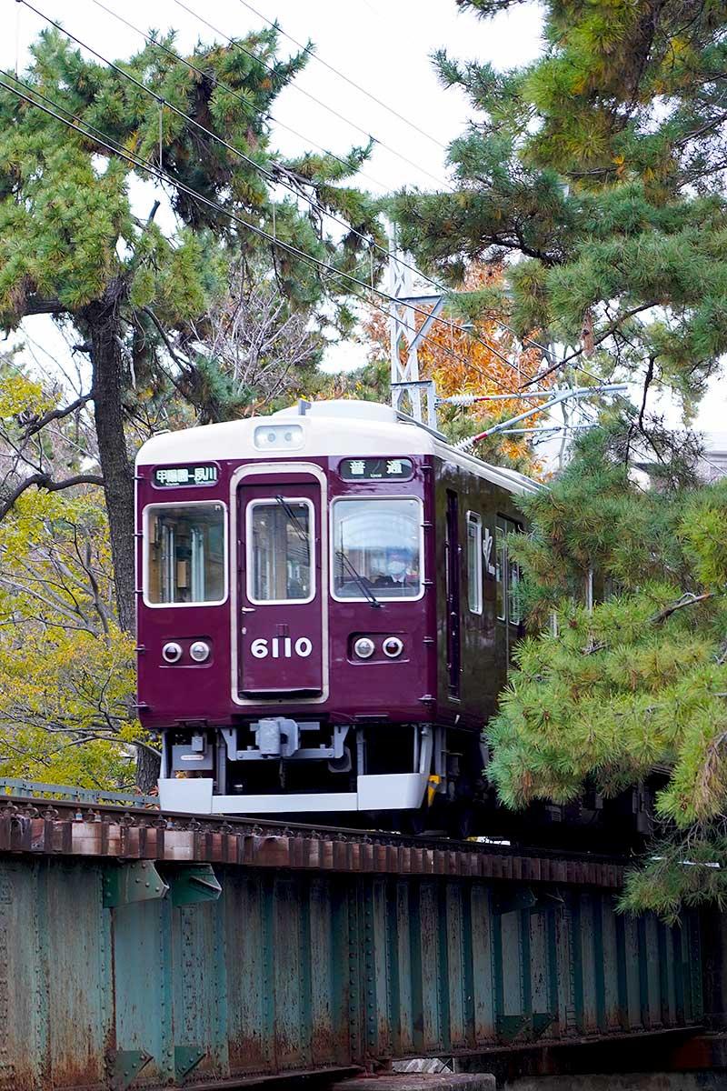 阪急甲陽園線と鉄橋