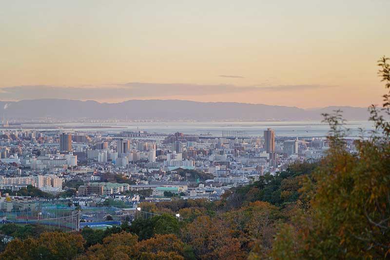 甲山展望台からの風景写真