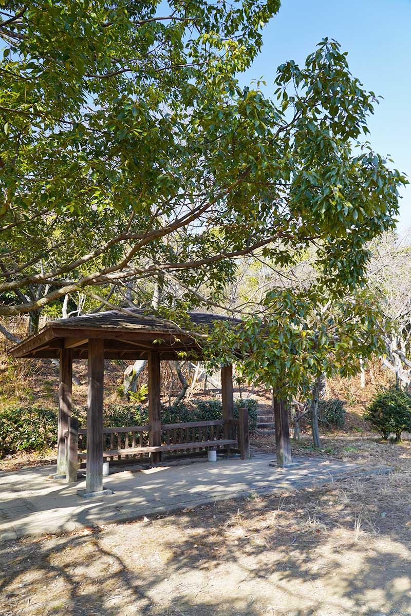 木で作られた休憩小屋