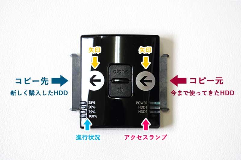 HDDクローンの接続方法
