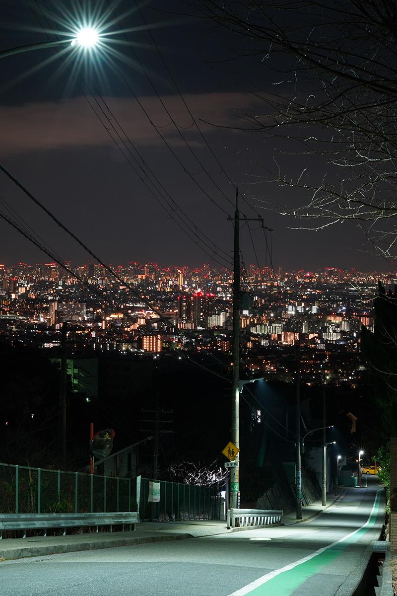 三脚を使用し撮影した夜景
