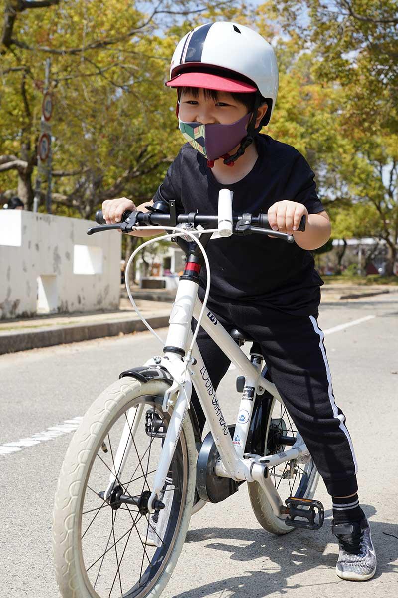 西武庫公園で自転車の練習