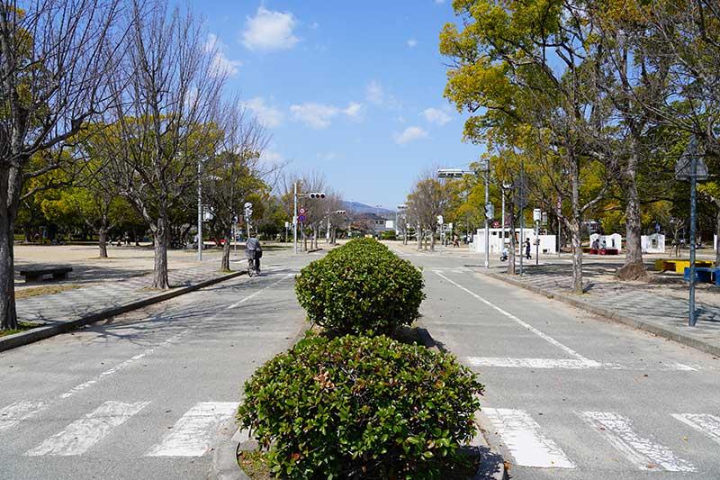 西武庫公園・交通公園の道路