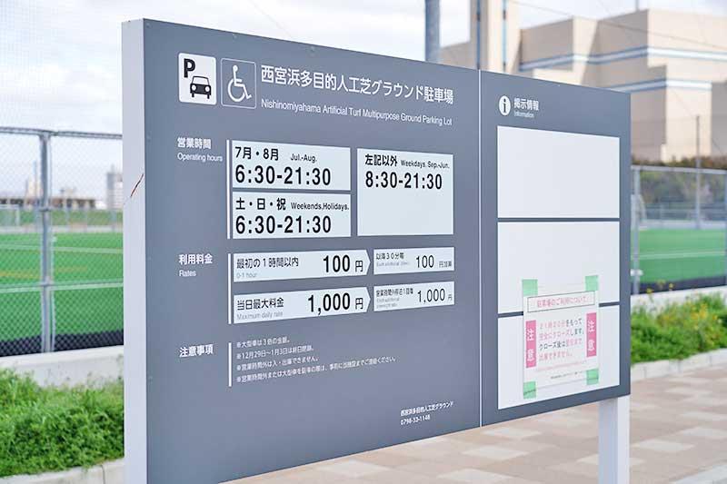 西宮浜総合公園(みやっこキッズダム)の駐車料金