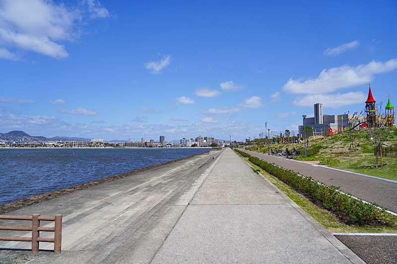 御前浜方面の景色
