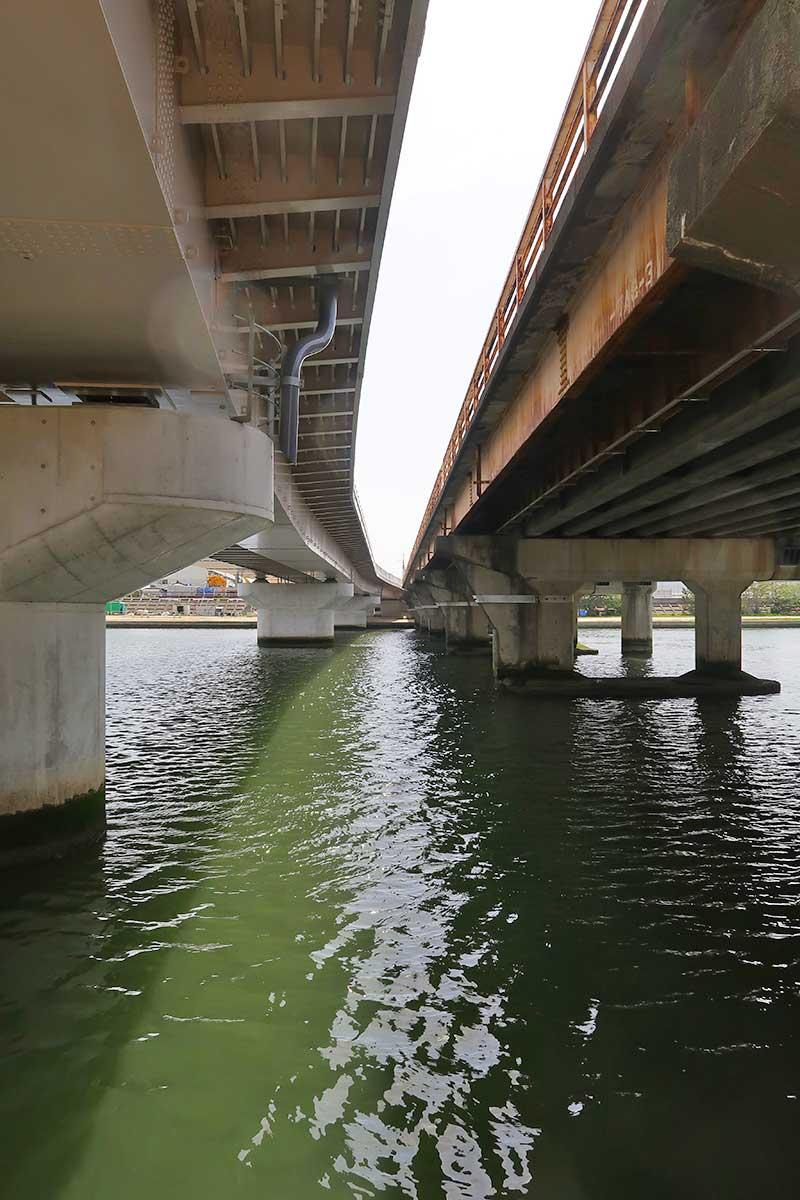 新旧の南武橋