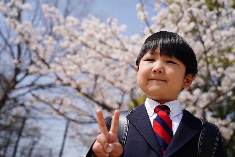 桜と入学式の前撮り