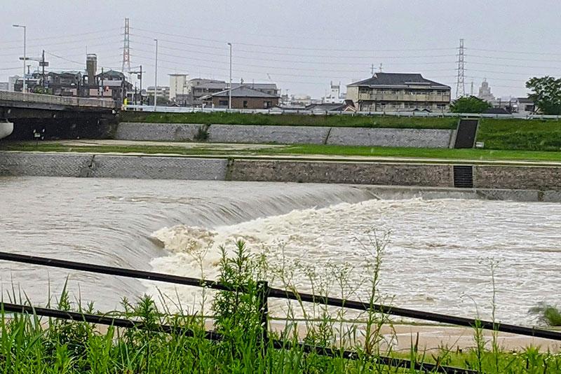 武庫川の増水