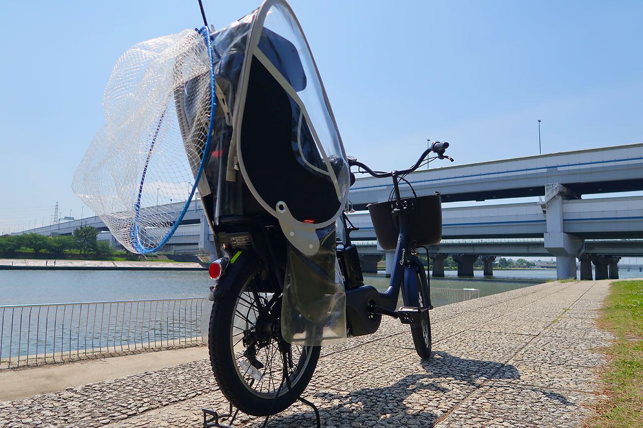電動自転車で釣り場をチェック!!